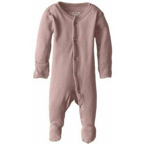 L'ovedbaby Organic Cotton Footed Overall Mauve